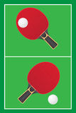 Table tennis ping pong vector Royalty Free Stock Image