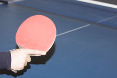 Table tennis and player Stock Image