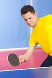 Table tennis player. Stock Photo
