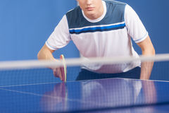 Table tennis player. Royalty Free Stock Photo