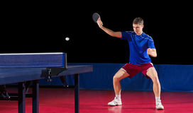Table tennis player isolated Stock Image