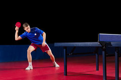 Table tennis player isolated Royalty Free Stock Images