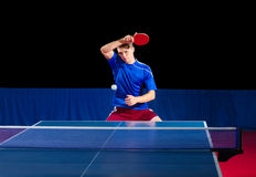 Table tennis player isolated. Young table tennis player isolated Royalty Free Stock Images