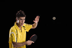 Table tennis player man in action Royalty Free Stock Photography
