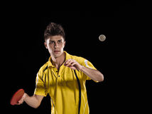 Table tennis player man Royalty Free Stock Image