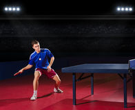 Table tennis player Stock Images