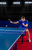 Table tennis player at sports hall Stock Photos