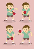 Table Tennis Player Vector Illustration Stock Images