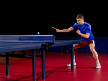 Table tennis player Stock Image