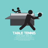 Table Tennis Players Symbol. Stock Photography