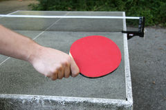 Table tennis position Stock Images