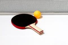 Table tennis racket and ball Stock Image
