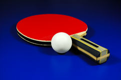 Table tennis racket and ball Royalty Free Stock Photo