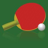 Table tennis racket and ball Stock Images