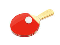 Table tennis racket and ball Stock Photos