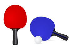 Table Tennis Racket with ball. Stock Image