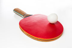Table tennis racket and ball Royalty Free Stock Photography