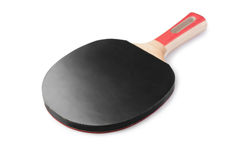 Table tennis racket isolated Stock Image