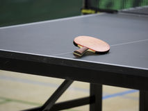Table Tennis racket on Table Royalty Free Stock Image