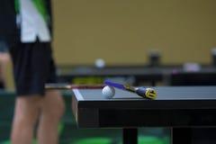 Table Tennis racket on Table Stock Photo