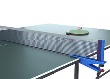 Table tennis with racket on the table Stock Photos