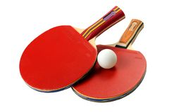 Table Tennis rackets Stock Photo