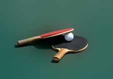 Table Tennis Rackets Royalty Free Stock Images