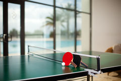 Table Tennis Rackets And Ball Royalty Free Stock Image