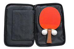Table tennis rackets with cover Stock Photo