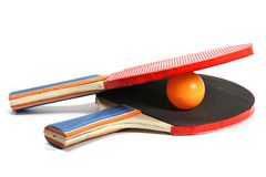 Table tennis rackets Stock Images
