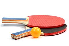 Table tennis rackets Royalty Free Stock Image
