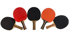 Table tennis rackets isolated on white background Stock Photo