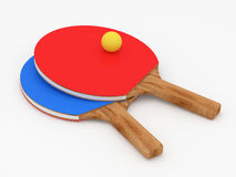Table Tennis Rackets on white background Stock Image