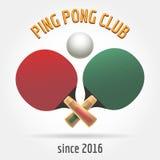 Table tennis retro logo Royalty Free Stock Images