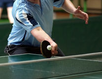 Table tennis returning Stock Photos