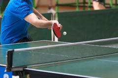 Table tennis returning Stock Photo