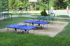 Table tennis in the Sanatorium Russia Royalty Free Stock Photos