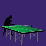 Table tennis serving illustration Royalty Free Stock Photo
