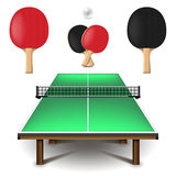 Table tennis set  on white vector Royalty Free Stock Images