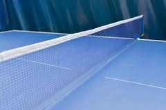 Table tennis sport background, Net on table tennis board Stock Photo