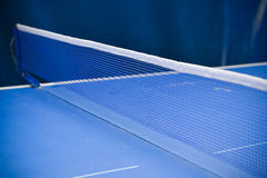Table tennis sport background, Net on table tennis board Stock Images
