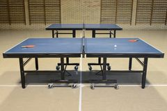 Table tennis in the sports hall Stock Photography