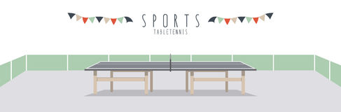Table Tennis (Sports). Vector illustration of a table tennis Royalty Free Stock Photos