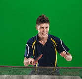 Table tennis sportsman Stock Photography