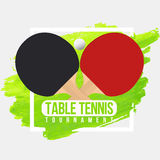 Table tennis tournament badge design. Ping Pong championship Stock Photos