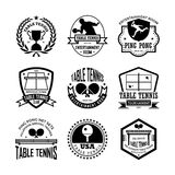 Table-tennis Vector Icons 33. Here is an awesome set of table tennis badges that you are sure to find very useful. Hope you really enjoy using them Royalty Free Stock Images