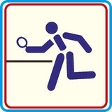 Table tennis Vector icons print projects. Table tennis Vector icons print Royalty Free Stock Image