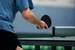 Table tennis waiting for the ball Stock Images