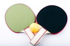 Table tennis on white. Ping pong objects on white Royalty Free Stock Image