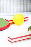 Table tennis on white. Ping pong objects on white Stock Photography